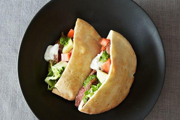 "<strong>Get the <a href=""http://food52.com/recipes/3799-my-home-style-lamb-shawarma"" target=""_blank"">Lamb Shawarma recipe</a>"