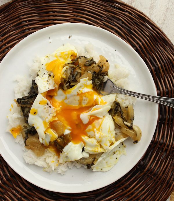 """<strong>Get the <a href=""""http://thefitchen.com/2014/09/16/honey-lemon-bok-choy-with-basmati-rice-and-eggs/"""" target=""""_blank"""">H"""