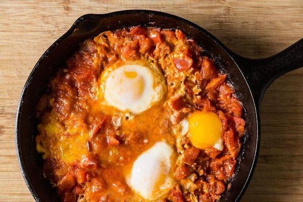 "<strong>Get the <a href=""http://food52.com/recipes/20281-tomato-y-yogurt-y-shakshuka"" target=""_blank"">Tomato-y, Yogurt-y Shak"