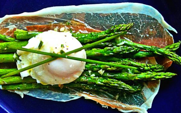"""<strong>Get the <a href=""""http://www.thewickednoodle.com/asaparagus-salad/"""" target=""""_blank"""">Asparagus Salad recipe</a> from Th"""