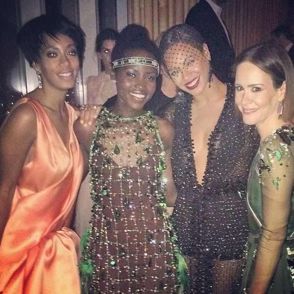 "The night it all went down, Beyonce (here with Lupita Nyong'o and Sarah Paulson) was the bell of the <a href=""http://www.huff"
