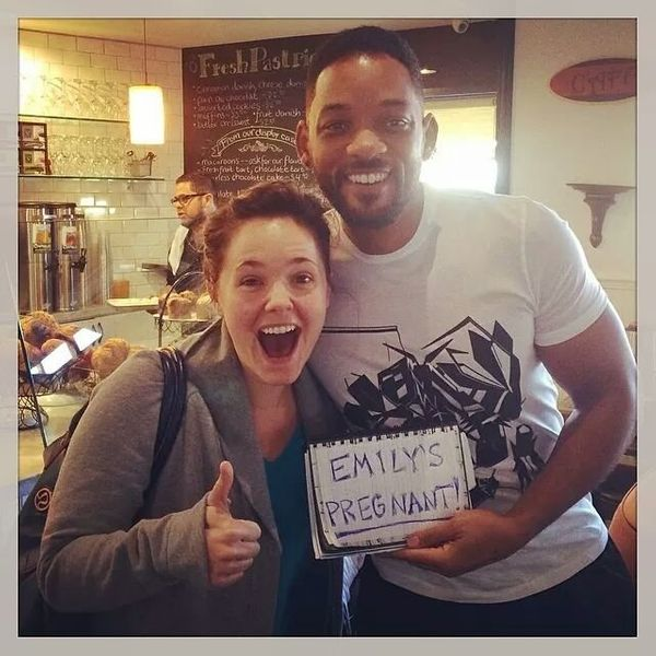 "Will Smith helped one expectant mom decided share her exciting news in a <a href=""https://www.huffpost.com/entry/will-smith-p"