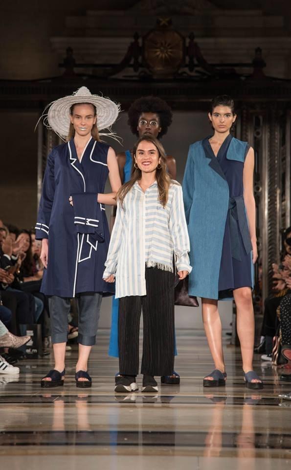 La styliste tunisienne Anissa Meddeb fait le show en marge de la Fashion Week de