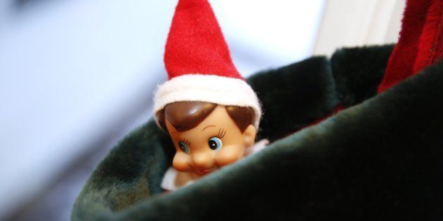 Michael the Shelf Elf is tucked in stocking and the Enger's home in Downers Grove, Ill., Dec. 9, 2013. (Chuck Berman/Chicago Tribune/MCT via Getty Images)