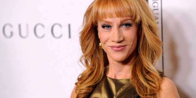 "Host Kathy Griffin poses at the ""Make Equality Reality"" event at the Montage Hotel on Monday, Nov. 3, 2014, in Beverly Hills, Calif. (Photo by Chris Pizzello/Invision/AP)"