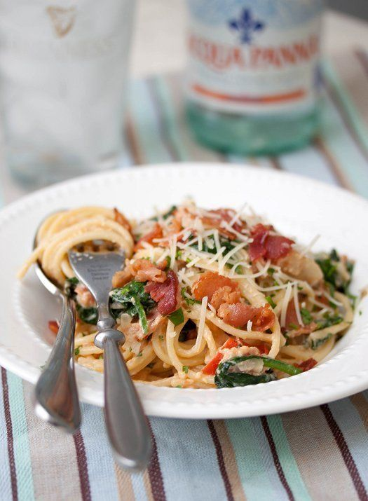 """<strong>Get the <a href=""""http://tideandthyme.com/blt-carbonara/"""" target=""""_blank"""">BLT Carbonara recipe</a> from Tide And Thyme"""