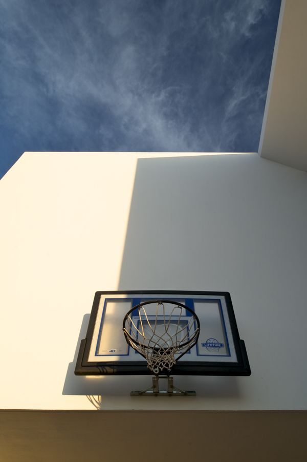 Even the basketball hoop feels like it was strategically placed.