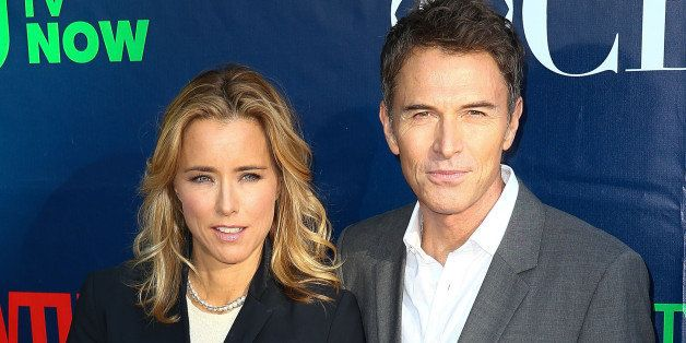 WEST HOLLYWOOD, CA - JULY 17:  Actress Tea Leoni (L) and actor Tim Daly attend the CBS, The CW, Showtime & CBS Television Distribution's 2014 TCA Summer Press Tour Party at Pacific Design Center on July 17, 2014 in West Hollywood, California.  (Photo by Imeh Akpanudosen/Getty Images)