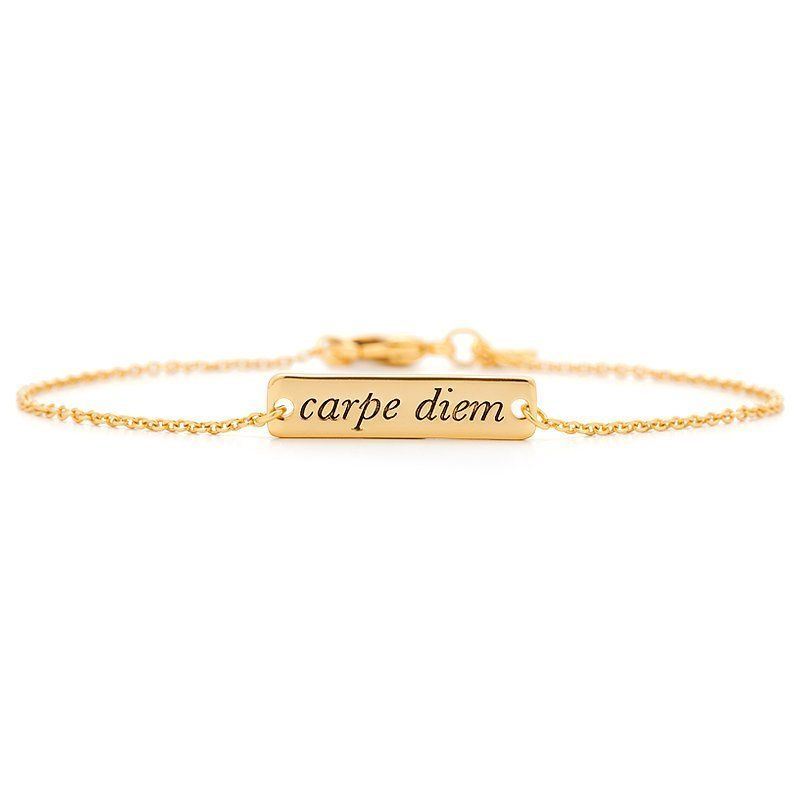 For women who love their accessories simple but sophisticated, this gold bracelet is sure to make a statement. Get it <a href