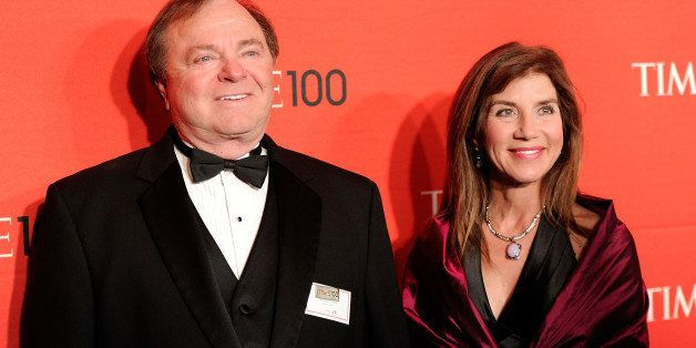 FILE - In this April 24, 2012 file photo, Continental Resources CEO Harold Hamm and his then wife Sue Ann Hamm attend the TIME 100 gala, celebrating the 100 most influential people in the world, at the Frederick P. Rose Hall in New York. Sue Ann, now the ex-wife of multibillionaire energy tycoon Hamm, plans to appeal a court ruling that awarded her nearly $1 billion in a divorce settlement, according to her attorney. An Oklahoma County judge awarded $995.4 million this week to Sue Ann, who was married for more than 20 years to the Continental Resources Inc. CEO before she filed for divorce in 2012.  (AP Photo/Evan Agostini, File)