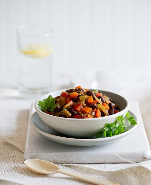 """<strong>Get the <a href=""""http://whiteonricecouple.com/recipes/vegetarian-chili/"""">Vegetarian Chili</a> recipe from White On Ri"""