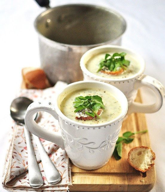 """<strong>Get the <a href=""""http://www.versesfrommykitchen.com/2011/06/my-friend-greg-and-a-pear-watercress-soup.html"""" target=""""_"""