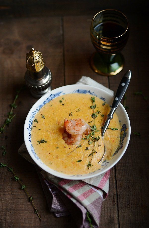 """<strong>Get the <a href=""""http://www.versesfrommykitchen.com/2011/12/soup-series-shrimp-bisque-and-a-holiday-flashback.html"""" t"""