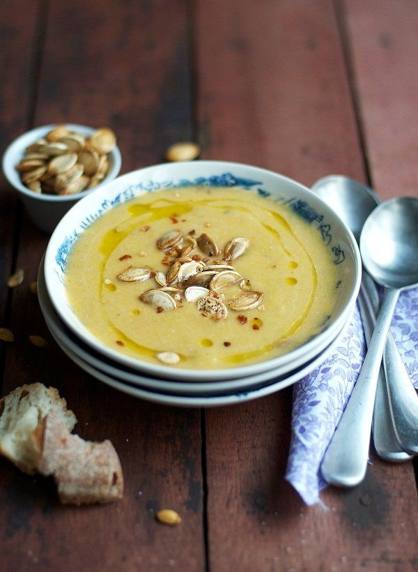 """<strong>Get the <a href=""""http://www.versesfrommykitchen.com/2011/10/late-sunday-soup-pumpkin-coconut-lime.html"""" target=""""_blan"""