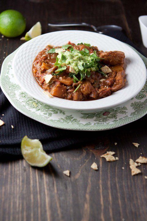 """<strong>Get the <a href=""""http://fiveandspice.wordpress.com/2012/02/03/holy-mole-chicken-and-squash-chili/"""">Holy Mole Chicken"""