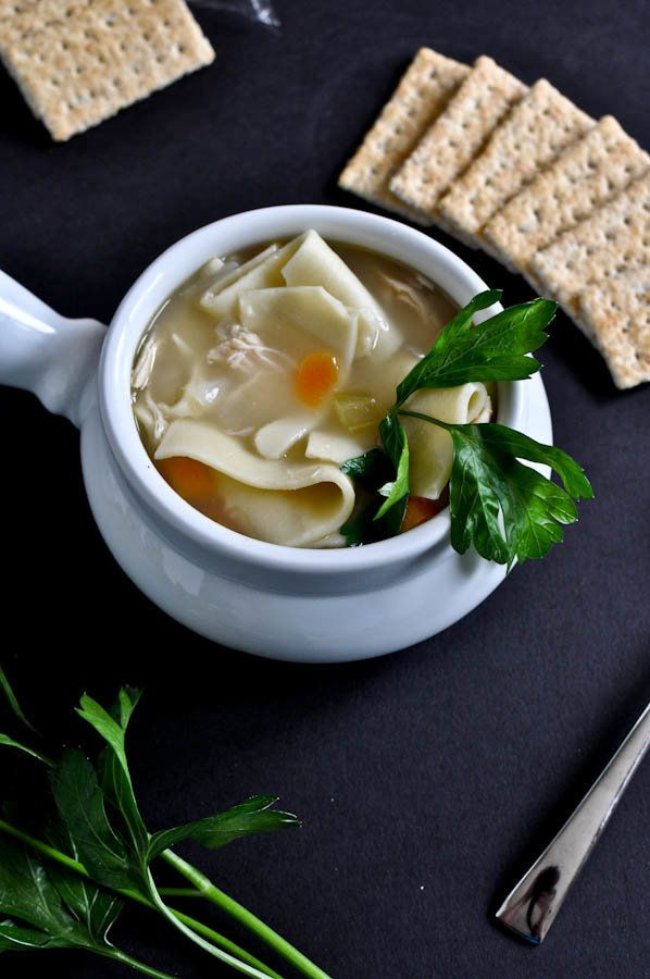 """<strong>Get the <a href=""""http://www.howsweeteats.com/2011/09/easy-roasted-chicken-noodle-soup/"""" target=""""_blank"""">Easy Roasted"""