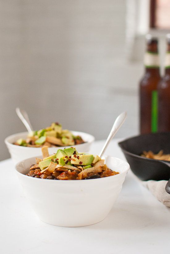 """<strong>Get the <a href=""""http://cookieandkate.com/2012/butternut-squash-chipotle-chili-with-avocado/"""">Butternut Squash Chipot"""