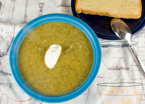 """<strong>Get the <a href=""""http://www.macheesmo.com/2012/03/broccoli-parmesan-soup/"""">Broccoli Parmesan Soup </a>recipe from Mac"""