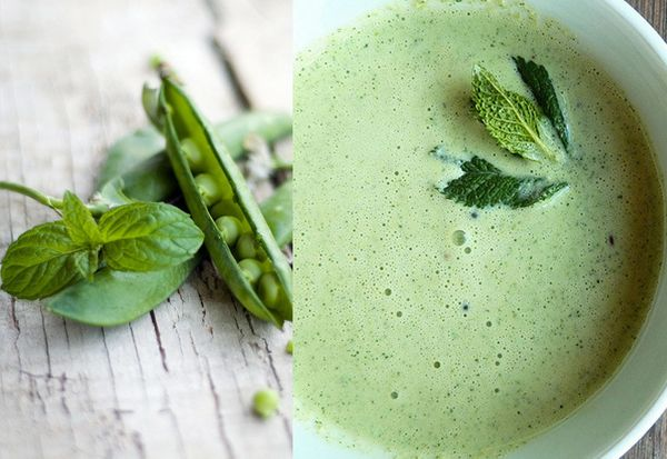 """<strong>Get the <a href=""""http://food52.com/recipes/18086-pea-and-mint-cream"""" target=""""_blank"""">Pea & Mint Cream</a> recipe from"""