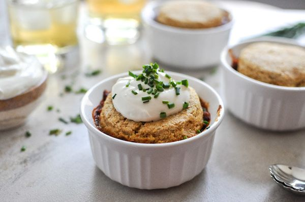 """<strong>Get the <a href=""""http://www.howsweeteats.com/2012/10/three-bean-chili-pot-pies/"""">Three-Bean Chili Pot Pie</a> recipe"""