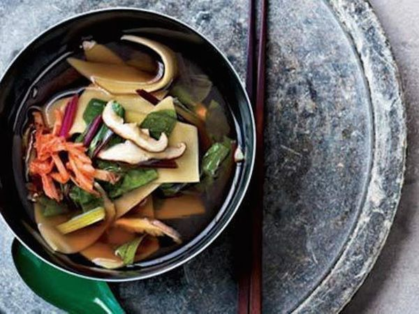 """<strong>Get the <a href=""""http://www.huffingtonpost.com/2011/10/27/shiitake-and-swiss-chard-_n_1061066.html"""">Shiitake & Swiss"""