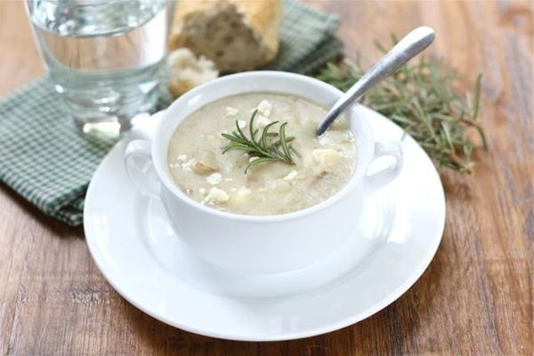 """<strong>Get the <a href=""""http://www.twopeasandtheirpod.com/potato-rosemary-soup/"""" target=""""_blank"""">Potato Rosemary Soup</a> re"""