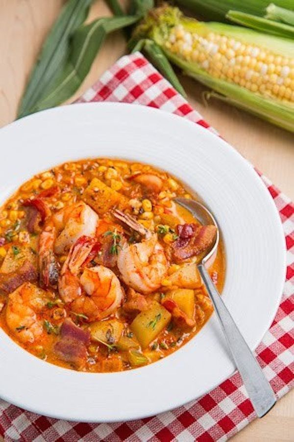 """<strong>Get the <a href=""""http://www.closetcooking.com/2012/08/shrimp-and-roasted-corn-chowder.html"""">Shrimp & Roasted Corn Cho"""