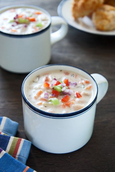 """<strong>Get the <a href=""""http://www.acommunaltable.com/white-bean-chowder/"""">White Bean Chowder</a> recipe from A Communal Tab"""