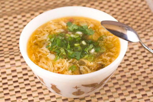 """<strong>Get the <a href=""""http://www.macheesmo.com/2012/03/hot-and-sour-soup/"""">Hot and Sour Soup</a> recipe from Macheesmo</st"""