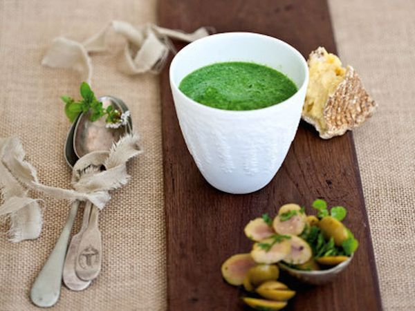 """<strong>Get the <a href=""""http://www.huffingtonpost.com/2011/10/27/baby-spinach-soup-topped-_n_1057562.html"""" target=""""_blank"""">B"""