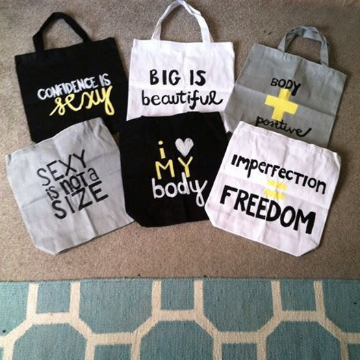 "<a href=""http://www.storenvy.com/products/8777295-hand-painted-body-positive-canvas-tote-bags"" target=""_blank"">Body Positive"