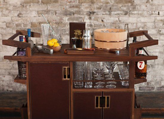 PDT's Jim Meehan has teamed up with the furniture designers Moore & Giles to create the perfect bar cart. Made of aluminum an
