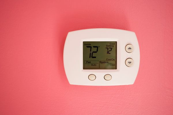 The ideal snooze temperature is about 65 degrees, according to the National Sleep Foundation. That's because the cooler you a