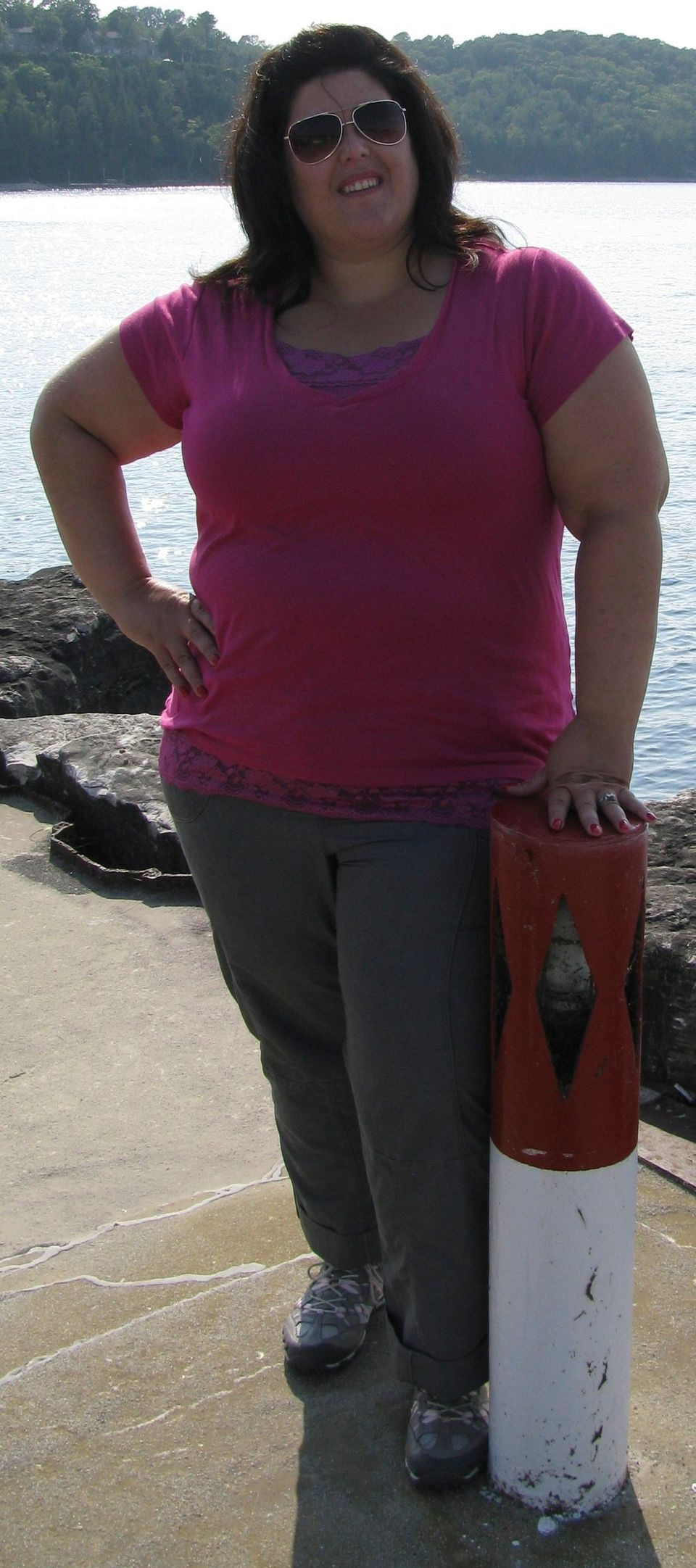 """<a href=""""https://www.huffpost.com/entry/i-lost-weight-jamie-morgan_n_6061830"""" target=""""_blank"""">Read Jamie's story here.</a>"""