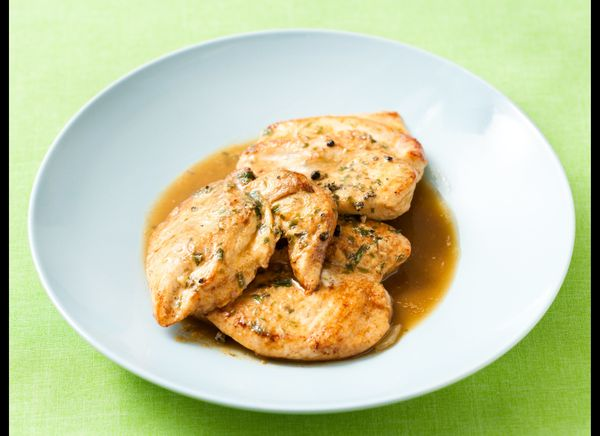 A strong mustard sauce, flavored with tarragon, tops this chicken dish. The wine added to the sauce adds a complexity of flav