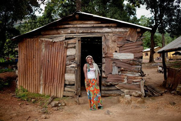"<strong>Dgenebou Soumah, 20, Coyah Prefecture</strong> <br> ""Her fiancé came to see her when she came home, but she doesn't k"