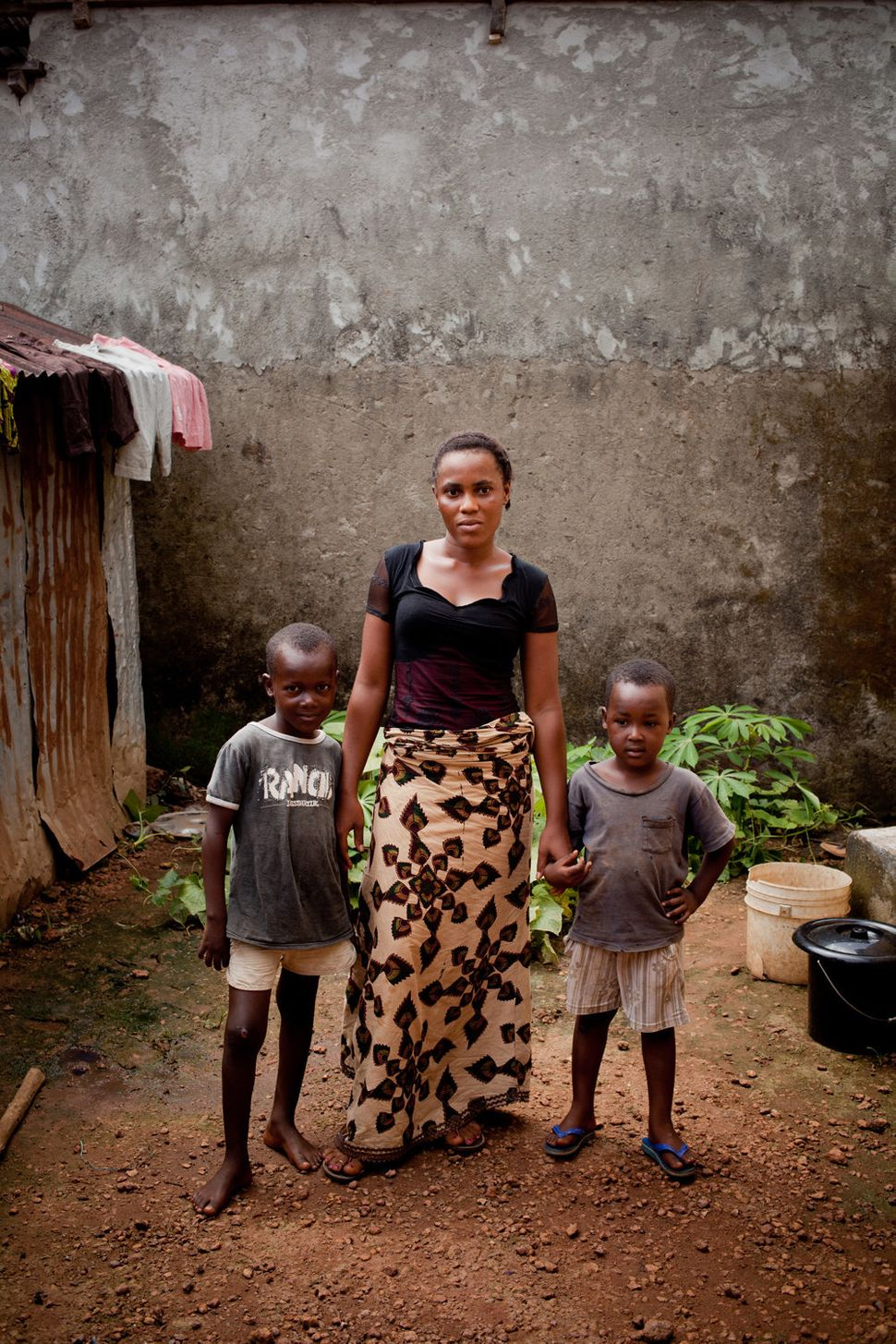 """<strong>M'Balia, Coyah Prefecture </strong> <br> """"M'Balia's husband died in September. She is now facing extreme poverty and"""
