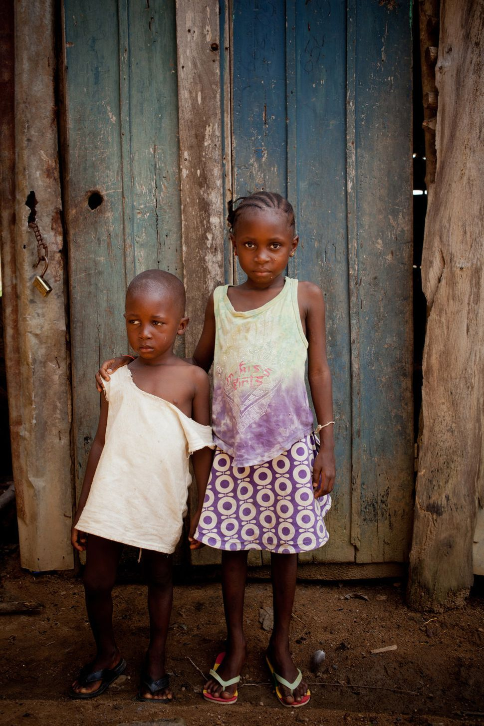 """<strong>Fanta and Sydia Bangoura</strong> <br> """"Only the little girl was infected with the disease. The children haven't real"""