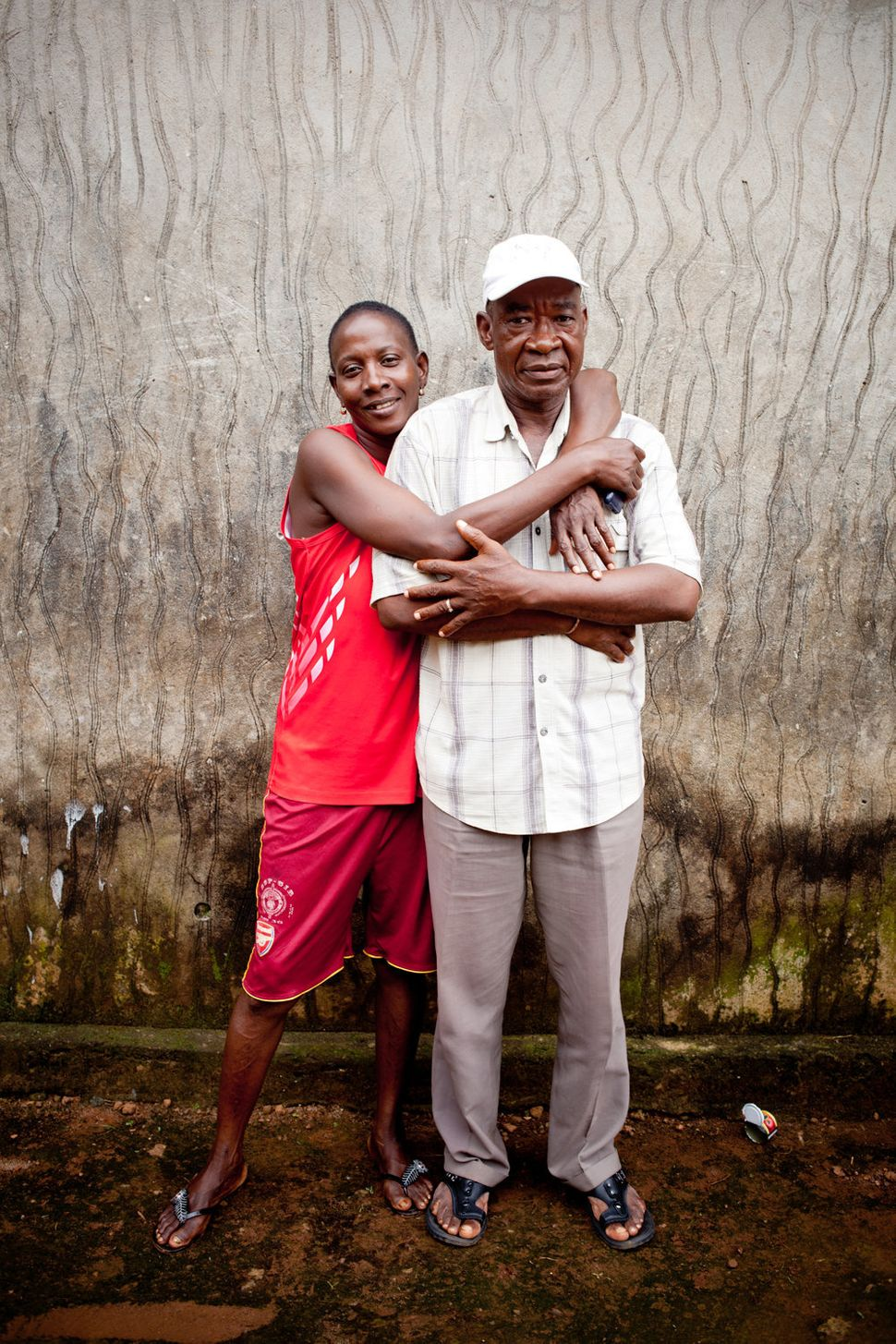 """<strong>M'Balia Sylla with her father-in-law</strong>  <br> """"Her father-in-law has always supported her. It took a lot of per"""