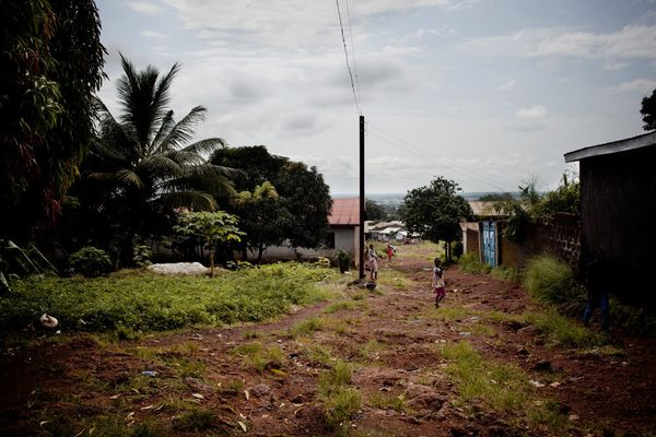 """People living in Coyah or at the KM 36 military base (shown above), who are infected with Ebola have to be treated at the Eb"