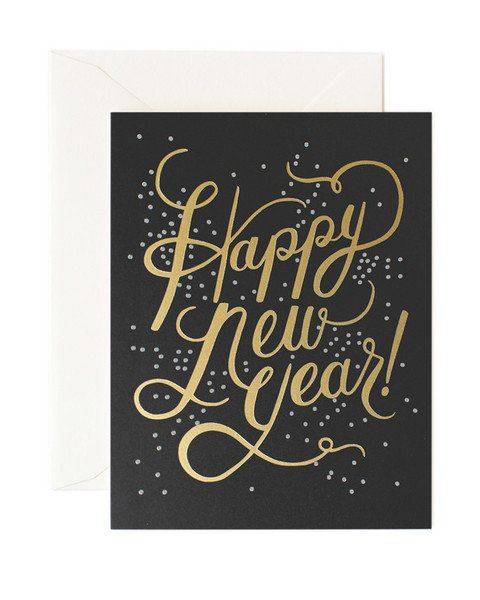 """Find it <a href=""""http://www.artsymodern.com/collections/holiday-cards/products/shimmering-happy-new-year-card"""" target=""""_blank"""
