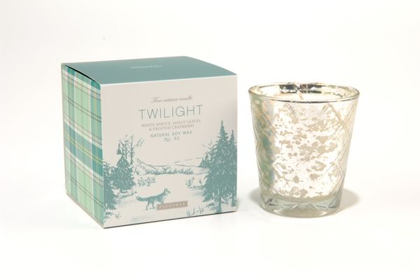 """<strong>Score</strong>: 4.8 <br><strong>What the <a href=""""http://www.paddywax.com/Shop/Woodland_3/Twilight_Mercury_Glass_10oz"""