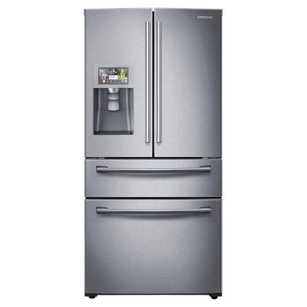 "<a href=""http://www.samsung.com/us/appliances/refrigerators/RF28HMELBSR/AA"" target=""_blank"">36"" Wide, 28 cu. ft. 4-Door Refri"