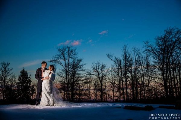 """The sun sets on NYE during Nicole and Jim's awesome wedding in #NH."" - Eric Mccallister"
