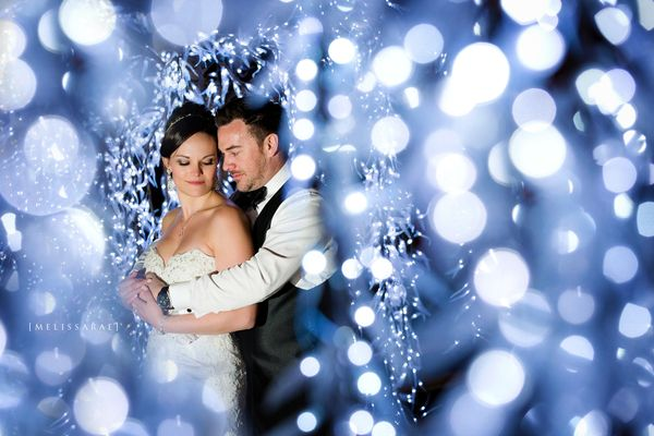 """A Winter Wonderland wedding photographed at the stunning hotel arts in Calgary AB."" - Melissa and Jared"