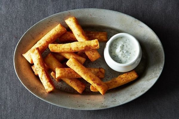 "<strong>Get the <a href=""http://food52.com/blog/8546-chickpea-fries-with-yogurt-dipping-sauce"" target=""_blank"">Chickpea Fries"
