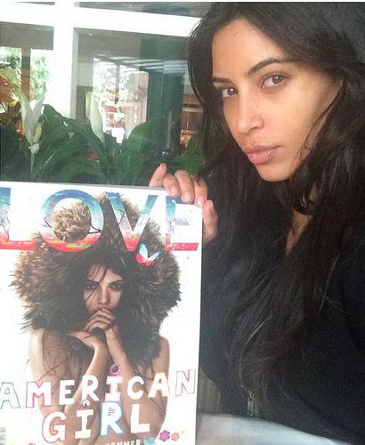 LOVE @kendalljenner on the cover of LOVE @kegrand