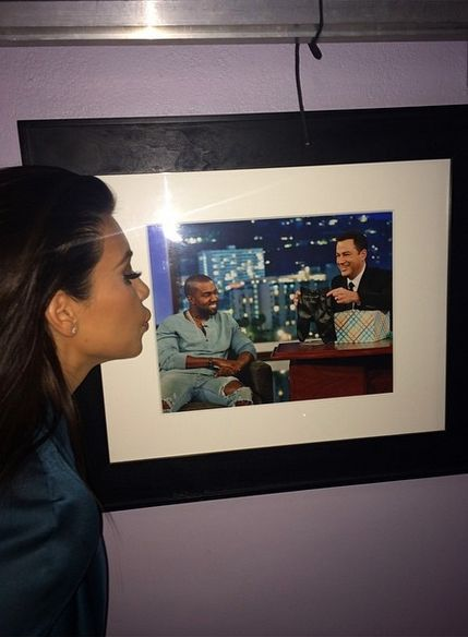 I'm at Jimmy Kimmel and look who I see... Tune in tonight!