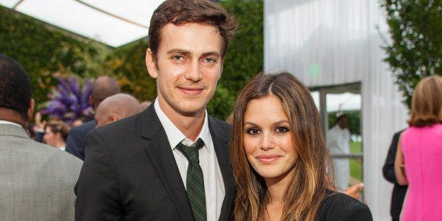 Hayden Christensen and Rachel Bilson during the George Lucas and Mellody Hobson's wedding reception at Promontory Point on Saturday, June 29, 2013 in Chicago. (Photo by Barry Brecheisen/Invision/AP)