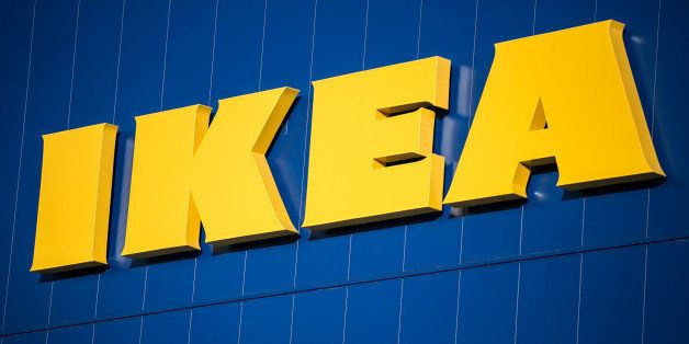 The Ikea AB logo is displayed atop the company's store in Gwangmyeong, Gyeonggi province, South Korea, on Thursday, Dec. 18, 2014. Ikea, the world's largest home-furnishings retailer, opened its first store in South Korea. Photographer: Jean Chung/Bloomberg via Getty Images